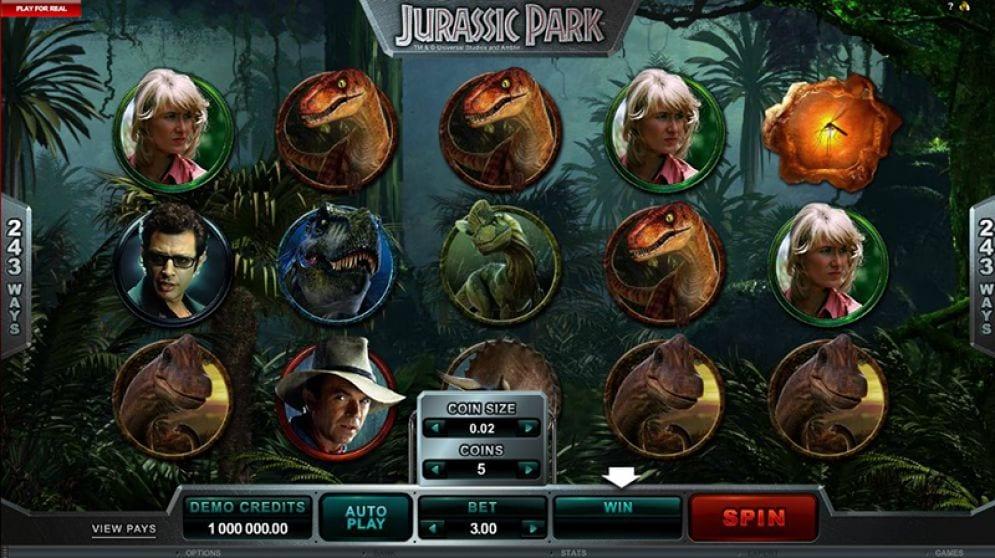 Jurassic Park Slot bonus free spins best