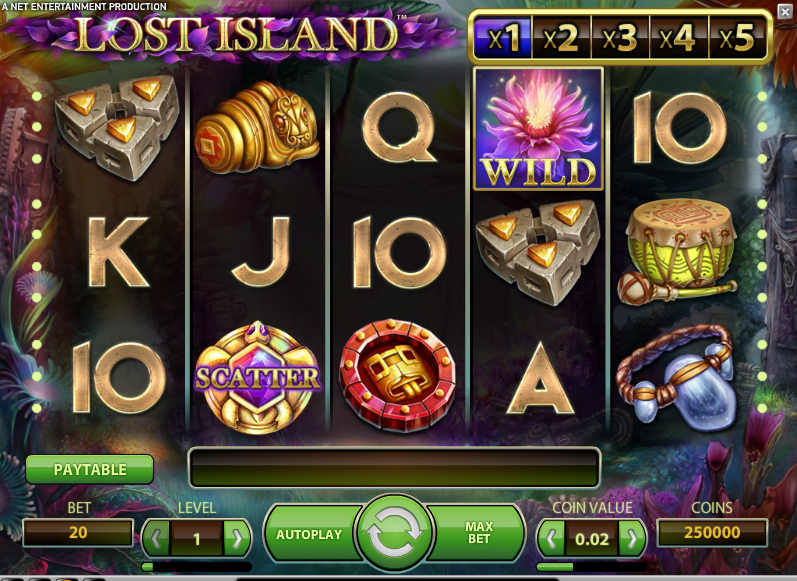Lost Island pokie bonus free spins review