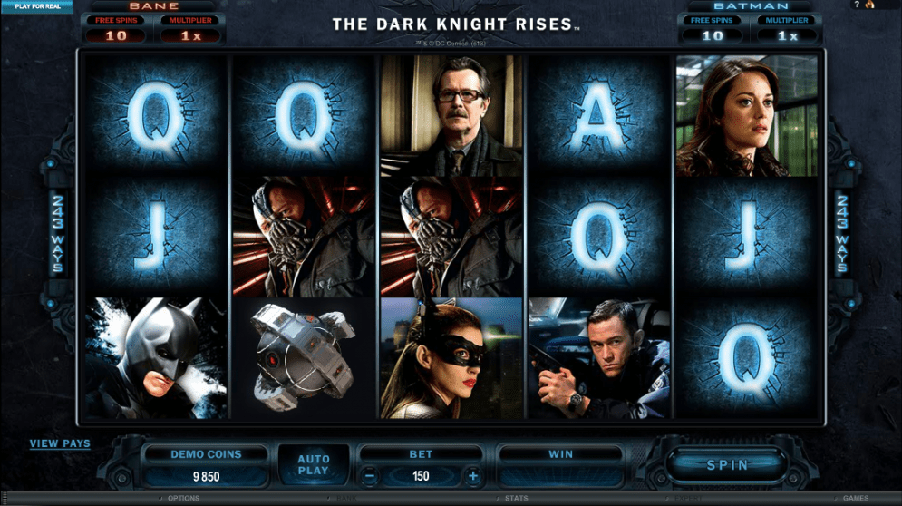 The Dark Knight Rises bonus free spins