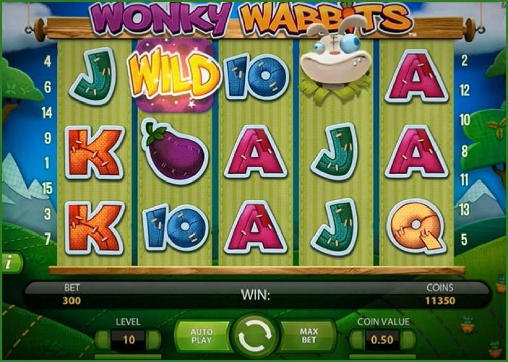 Wonky Wabbits pokie bonus free spins