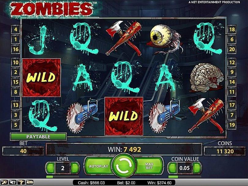 Zombies pokie bonus free spins