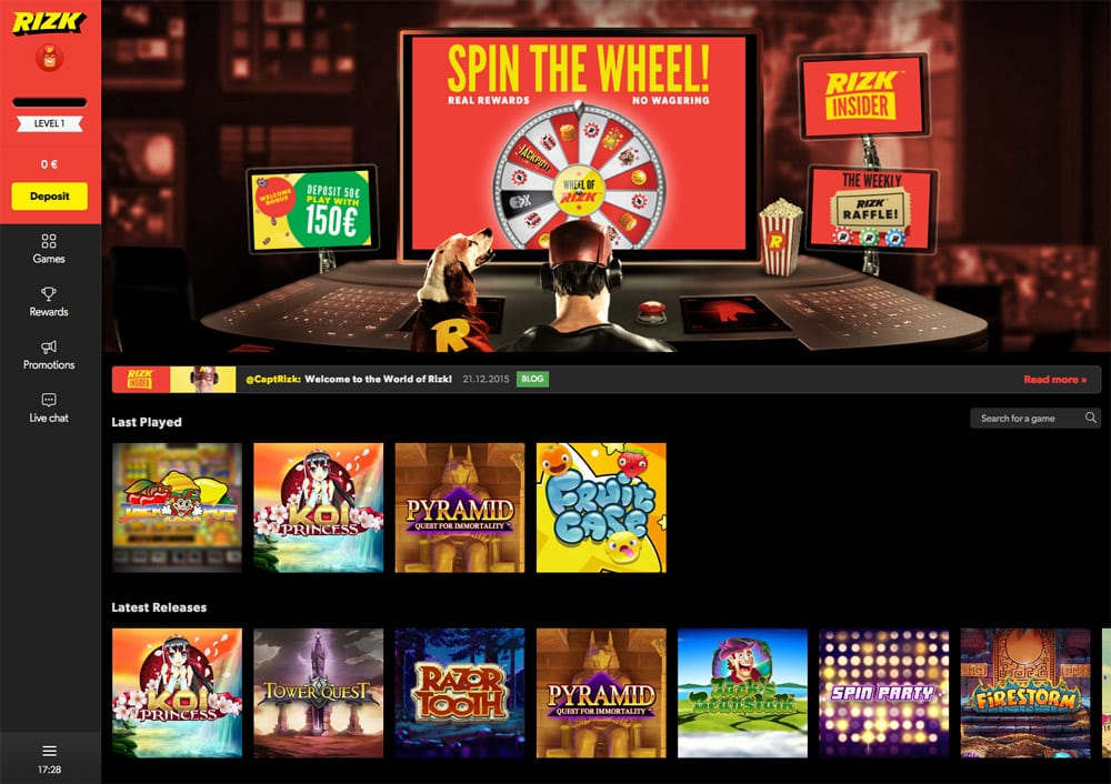 Rizk Casino welcome bonus review