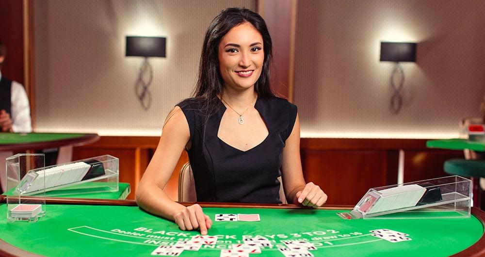 female casino dealer