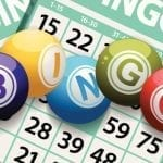 bingo balls and tickets
