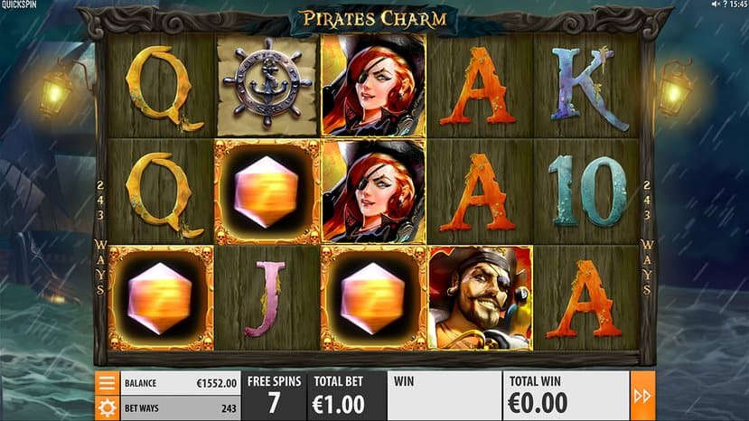 pirate's charm slot game