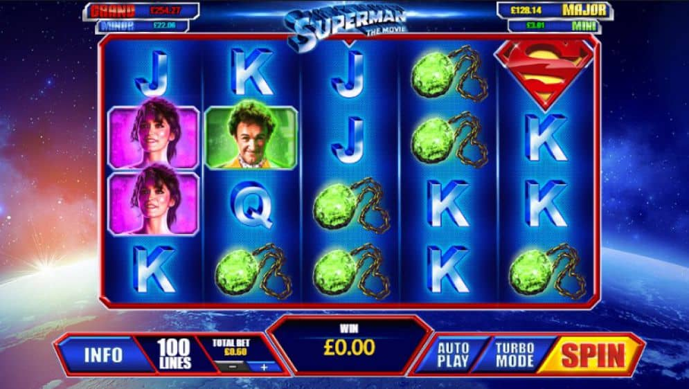 superman the movie slot game