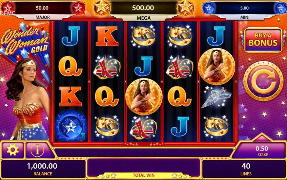 wonderwoman gold slot game